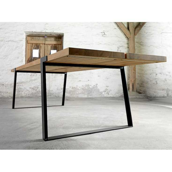 Industrial Modern Dining Room Table: Gigant Rustic Dining Room Table