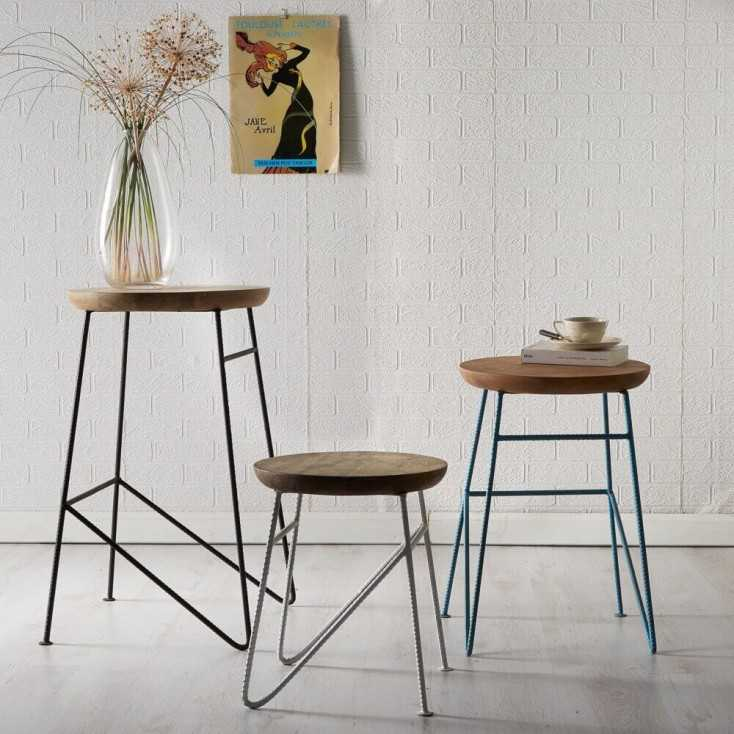 Rustic Stools And Side Table Vintage Concrete
