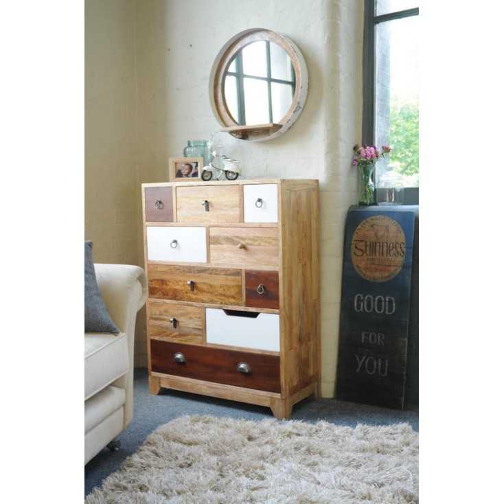 Contemporary Tall Chest Of Drawers Retro Bedroom Furniture