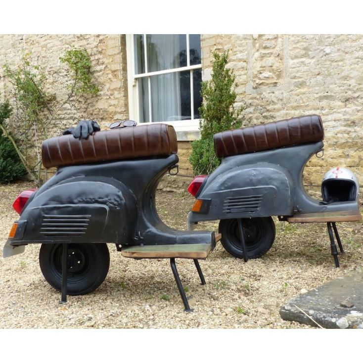 Vespa Scooter Bar Chair Upcycled Furniture Smithers of Stamford £ 1,000.00 Store UK, US, EU, AE,BE,CA,DK,FR,DE,IE,IT,MT,NL,NO...