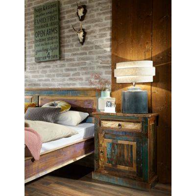 River Thames Bedside Cabinet Reclaimed Wood Furniture Smithers of Stamford £ 395.00 Store UK, US, EU