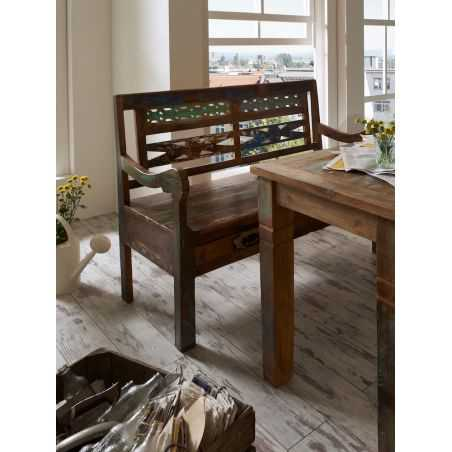 Reclaimed Wood Bench Recycled Wood Furniture Smithers of Stamford £ 987.00 Store UK, US, EU, AE,BE,CA,DK,FR,DE,IE,IT,MT,NL,NO...