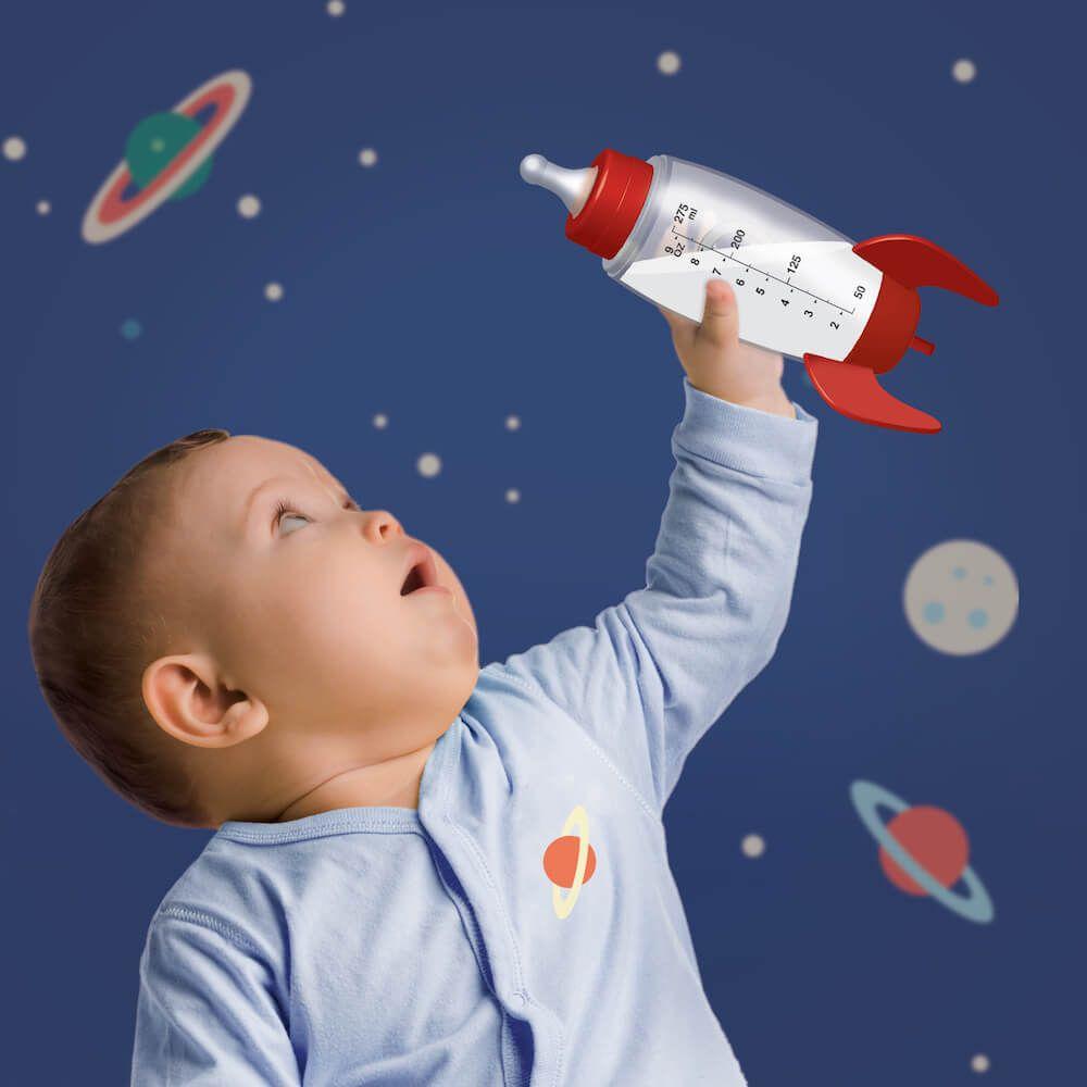 Cool Baby Boy Gifts Rocket Boys Kids Drink Juice Milk Bottle