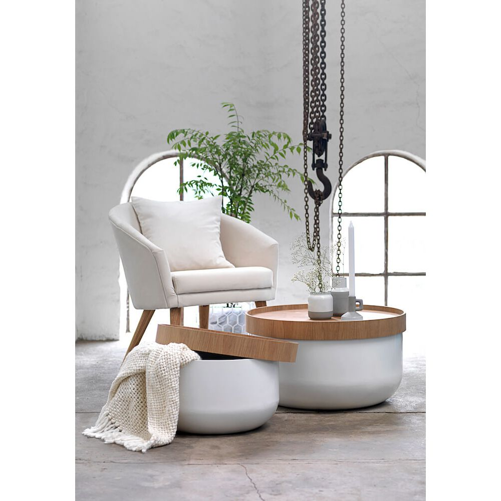 Olivia Coffee Tables | Contemporary White Round Coffee Table