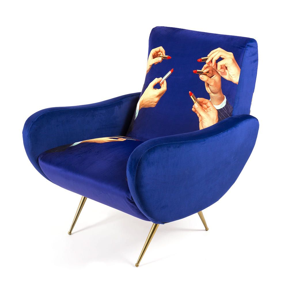 Seletti Armchairs Pop Art Printed Velvet Chairs