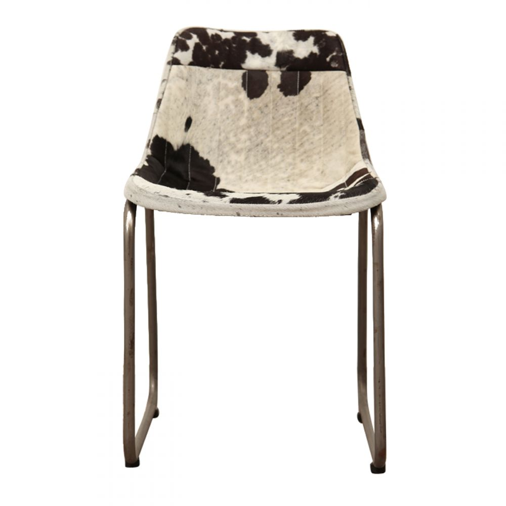 Cowhide Barstools Vintage Black White Hairhide Leather Bar: Industrial Leather Or Cowhide Dining Chair