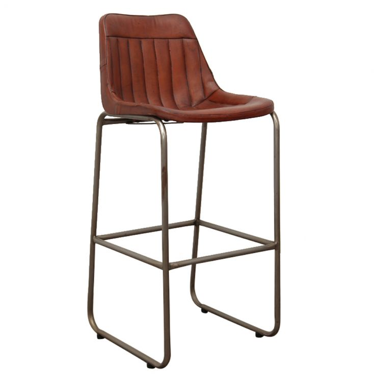 Leather Bar Chairs Industrial Furniture Smithers of Stamford £ 242.00 Store UK, US, EU