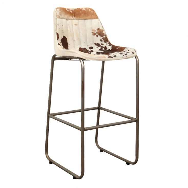 Leather & Cowhide Bar Chairs Industrial Furniture Smithers of Stamford £ 242.00 Store UK, US, EU, AE,BE,CA,DK,FR,DE,IE,IT,MT,...