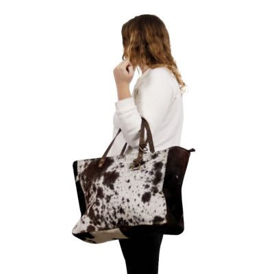 Cowhide Fur Shopping Bag