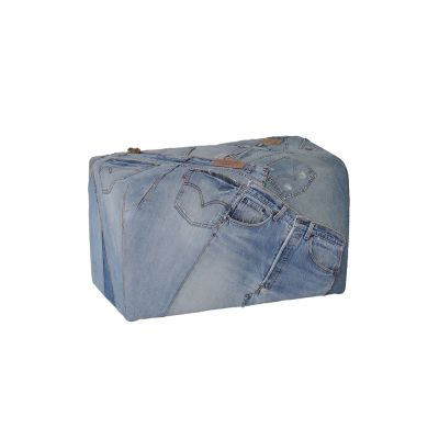 Denim Footstool