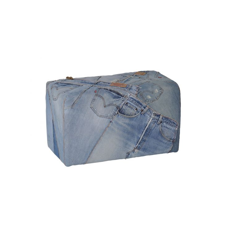 Denim Footstool Smithers Archives Smithers of Stamford £ 167.00 Store UK, US, EU, AE,BE,CA,DK,FR,DE,IE,IT,MT,NL,NO,ES,SE