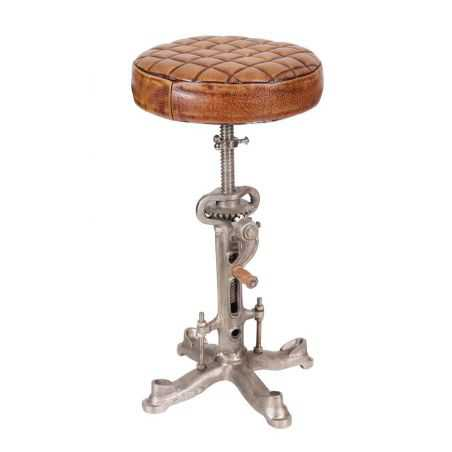 Industrial Leather Bar Stool Urban Furniture Smithers of Stamford £ 180.00 Store UK, US, EU, AE,BE,CA,DK,FR,DE,IE,IT,MT,NL,NO...