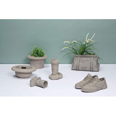 Concrete Top & Bowler Hat Garden Planter