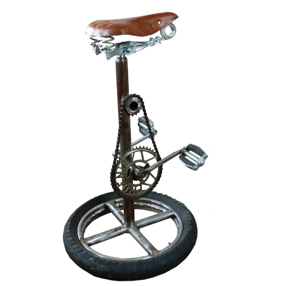 Bicycle Wheel Bar Stool Chair Pedal Chairs Cool Men