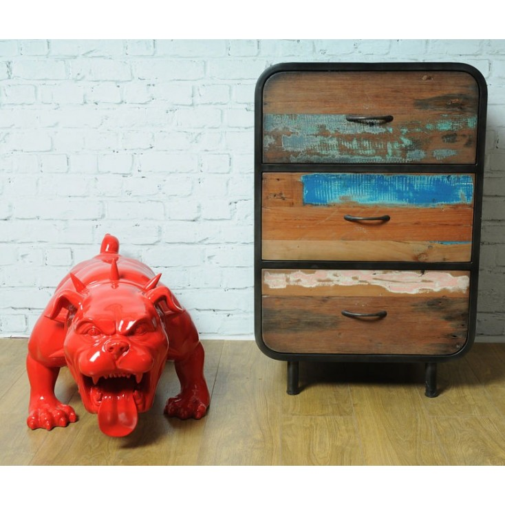 Drum art 3 drawer dresser