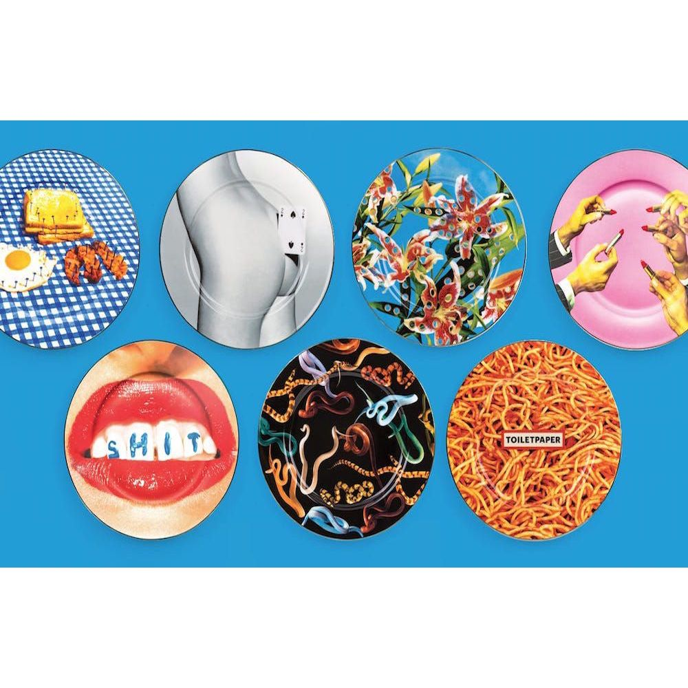 Seletti Plates Studio Job Lips Teeth Hotdog Uk Dealer