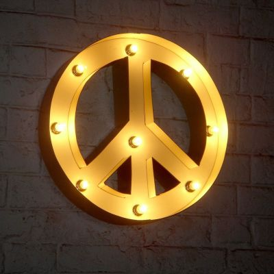 Peace Symbol Bulb Lamp Retro Signs Smithers of Stamford £ 161.00 Store UK, US, EU, AE,BE,CA,DK,FR,DE,IE,IT,MT,NL,NO,ES,SE