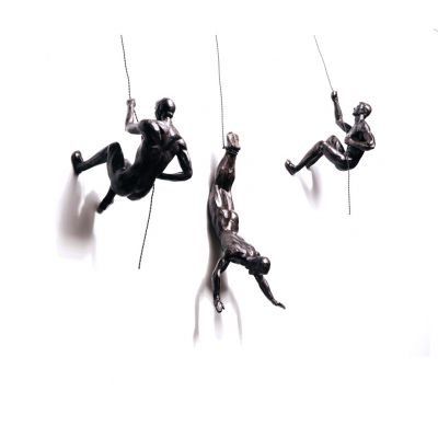 Climbing Men Wall Sculpture