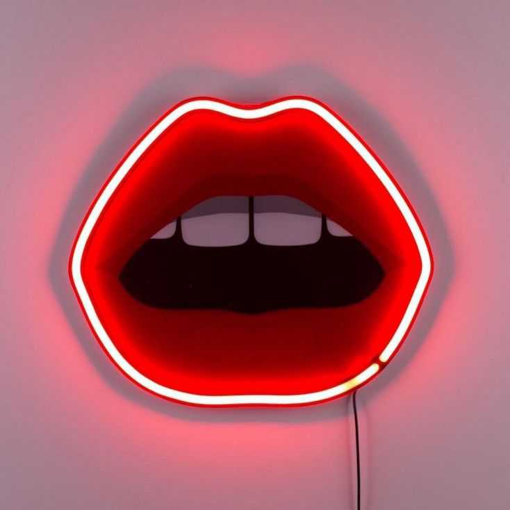 Neon Mouth Lamp Retro Lighting  Seletti £222.00 Store UK, US, EU, AE,BE,CA,DK,FR,DE,IE,IT,MT,NL,NO,ES,SE