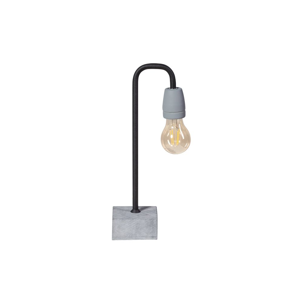 Concrete Floor Lamp White Or Black Curved Bow Contemporary Style