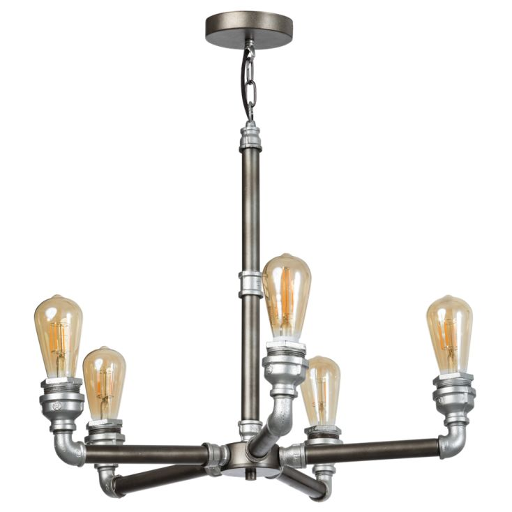 Industrial Chandelier Vintage Lighting Smithers of Stamford £ 270.00 Store UK, US, EU, AE,BE,CA,DK,FR,DE,IE,IT,MT,NL,NO,ES,SE