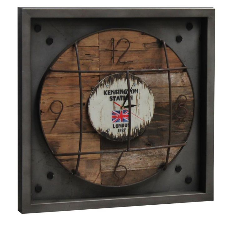 Industrial Kensington Station Clock Vintage Clocks Smithers of Stamford £ 298.00 Store UK, US, EU, AE,BE,CA,DK,FR,DE,IE,IT,MT...