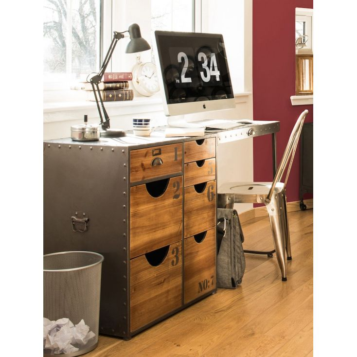 Industrial Style Office Desk Vintage Retro Style Home