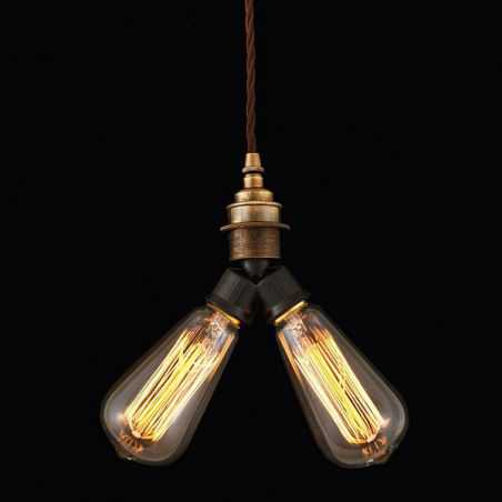 Double Braided Pendant Light Home Smithers of Stamford £ 65.00 Store UK, US, EU, AE,BE,CA,DK,FR,DE,IE,IT,MT,NL,NO,ES,SE