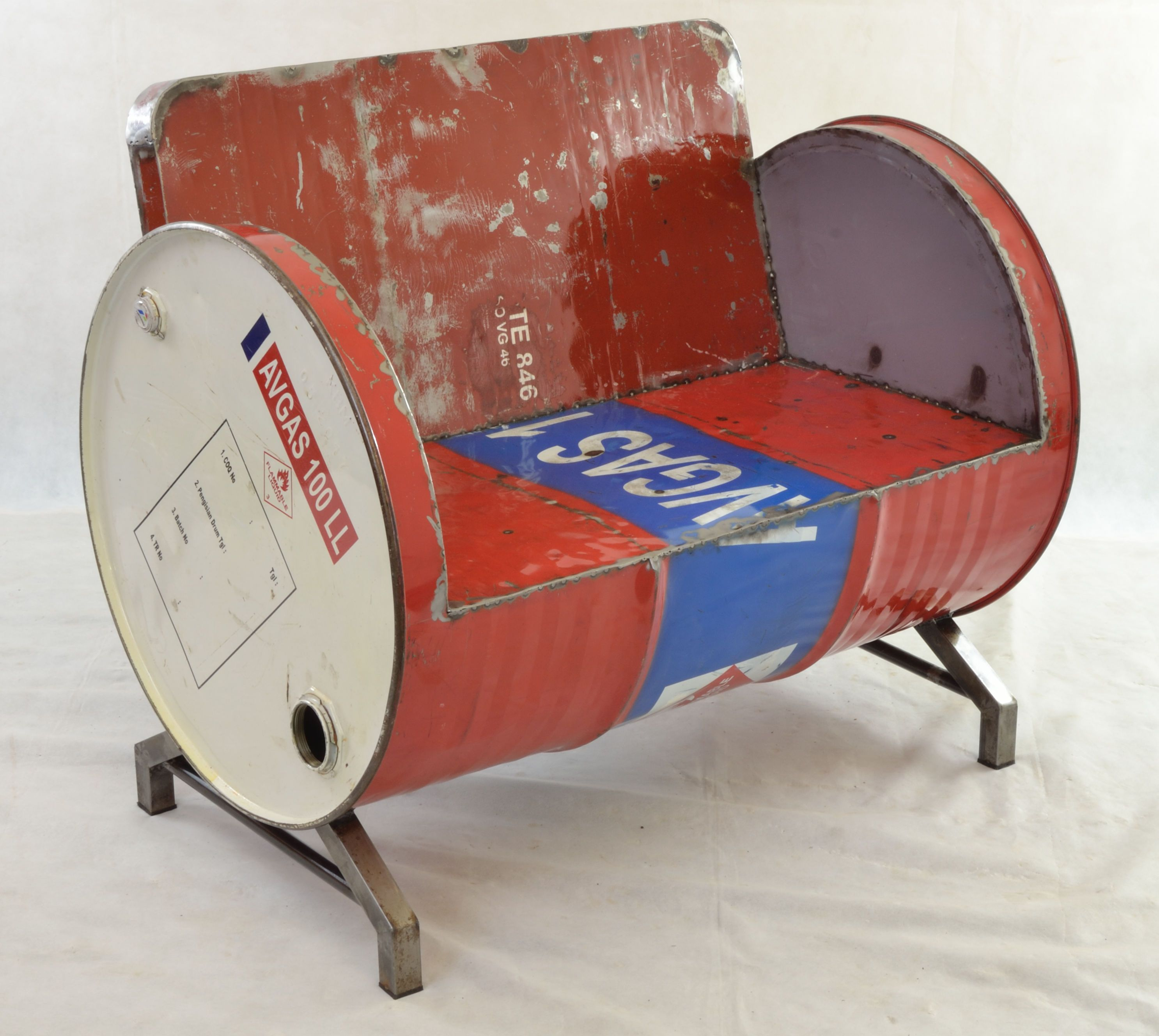 Oil Drum Seat Chair