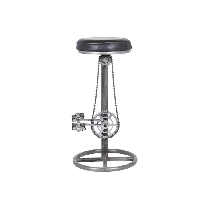 Stylish Bar Chair Stool Look From Bicycle Parts Black