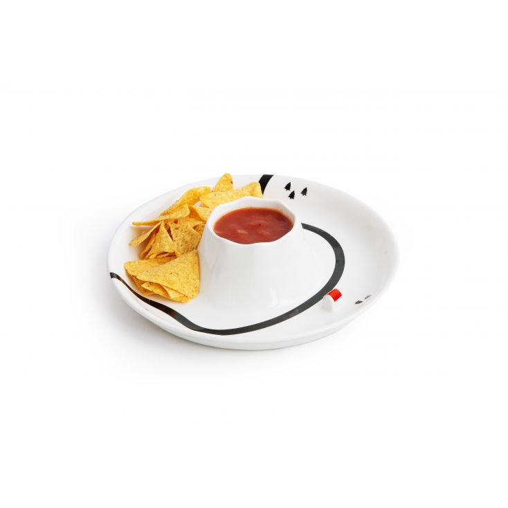 Volcano Chip n Dip Bowl Tableware SUCK UK £ 35.00 Store UK, US, EU, AE,BE,CA,DK,FR,DE,IE,IT,MT,NL,NO,ES,SE
