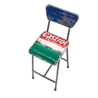 Castrol Oil Drum Dining Chair