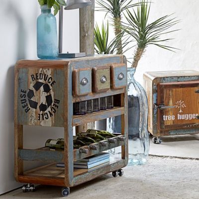 Reclaimed Wood Mini Bar