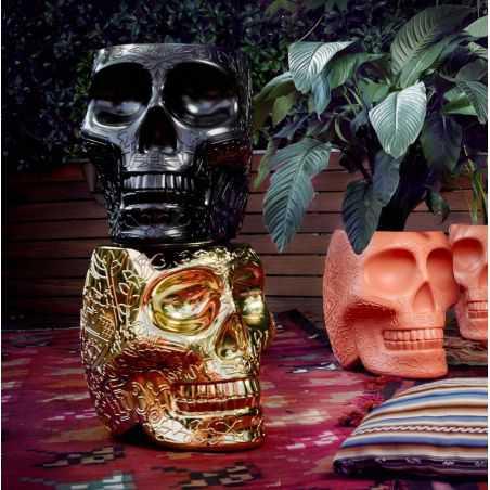 Skull Head Planter And Champagne Bucket Retro Ornaments  £ 206.00 Store UK, US, EU, AE,BE,CA,DK,FR,DE,IE,IT,MT,NL,NO,ES,SE