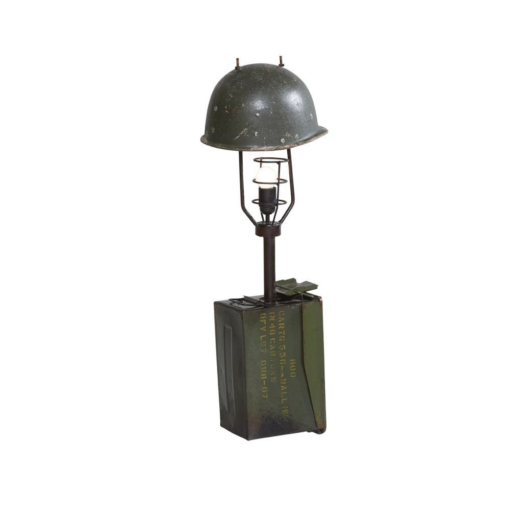 Army Solider Helmet Table Floor Lamp Recycled Lighting By
