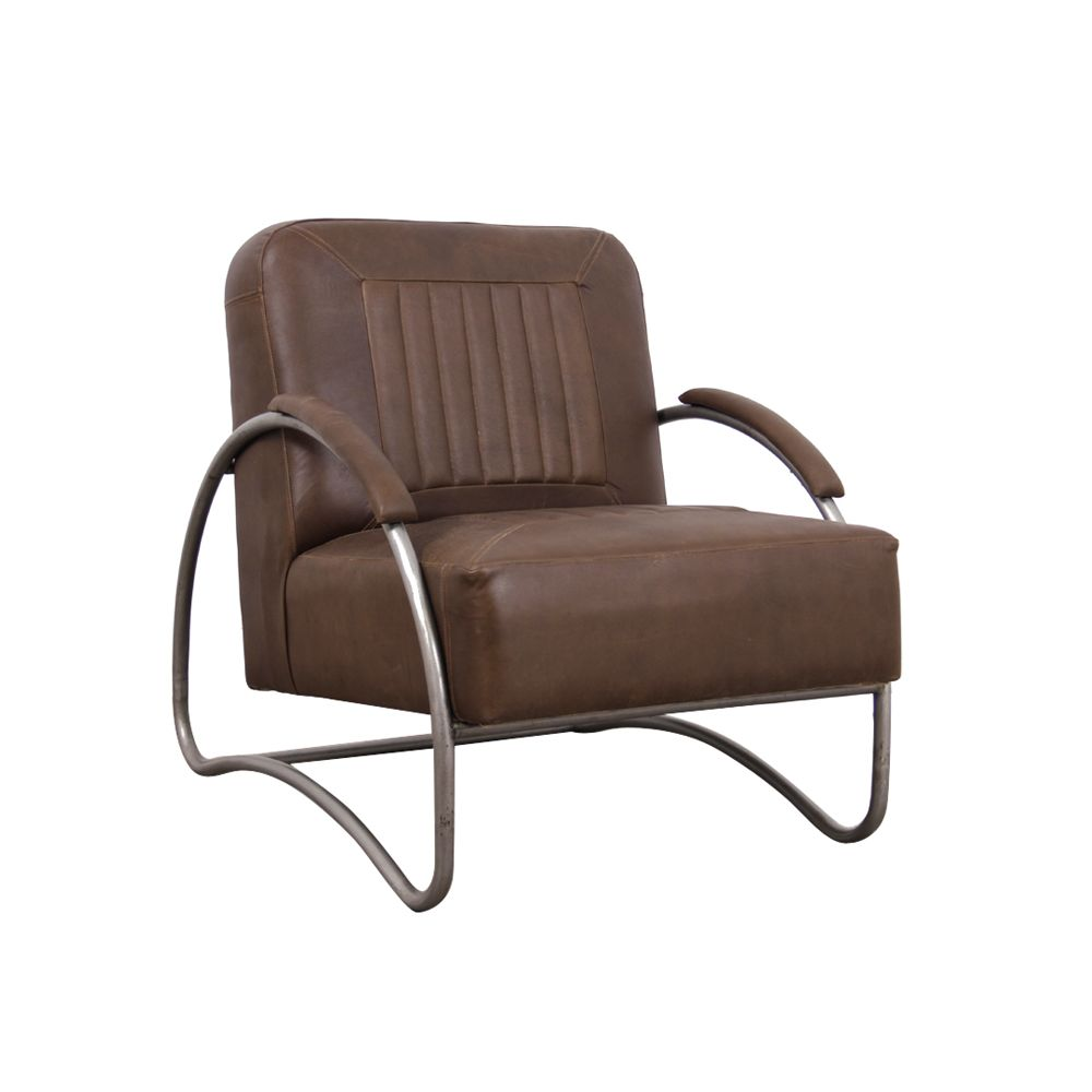 Aviator : Vintage Tan Leather Armchair