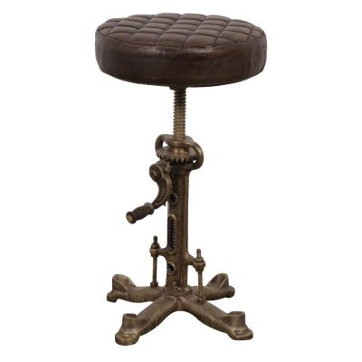 Industrial Leather Bar Stool Industrial Furniture Smithers of Stamford £ 240.00 Store UK, US, EU