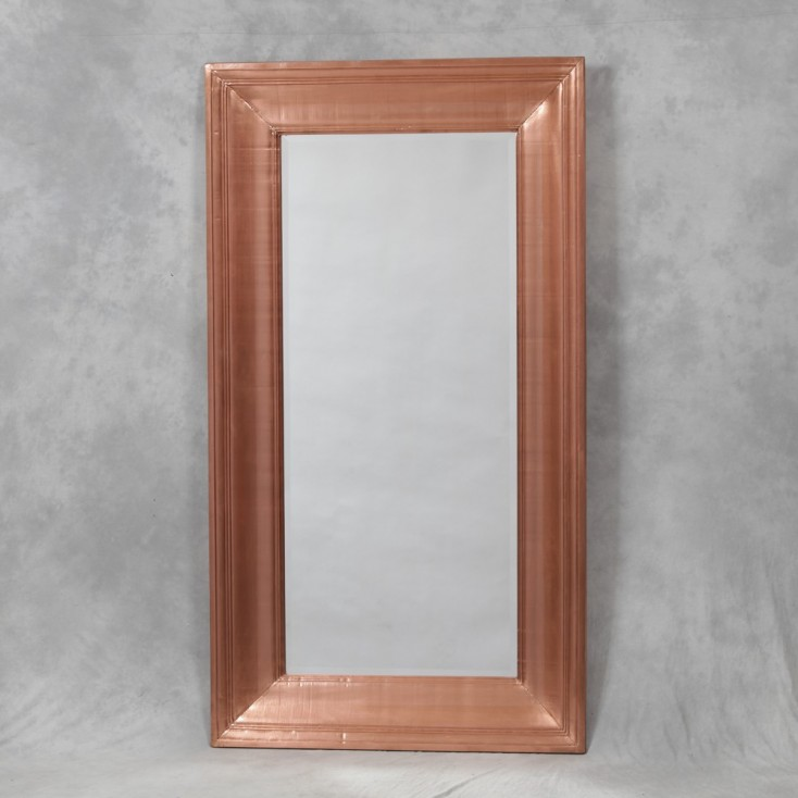 Copper Framed Wall Mirror large