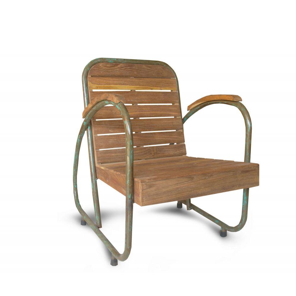 Outdoor Reclaimed Wood Garden Armchair