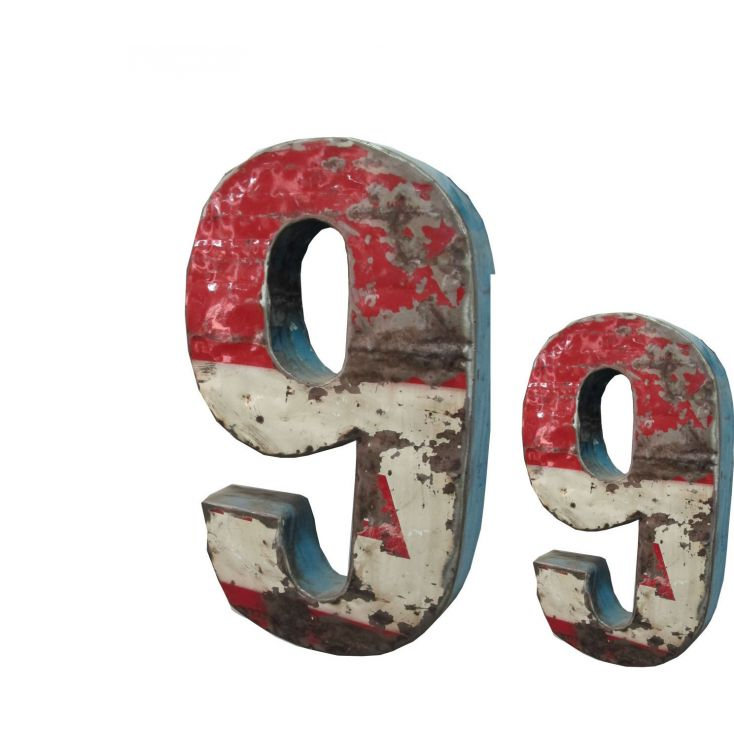 Large Metal Wall Letters | Industrial Oil Drum