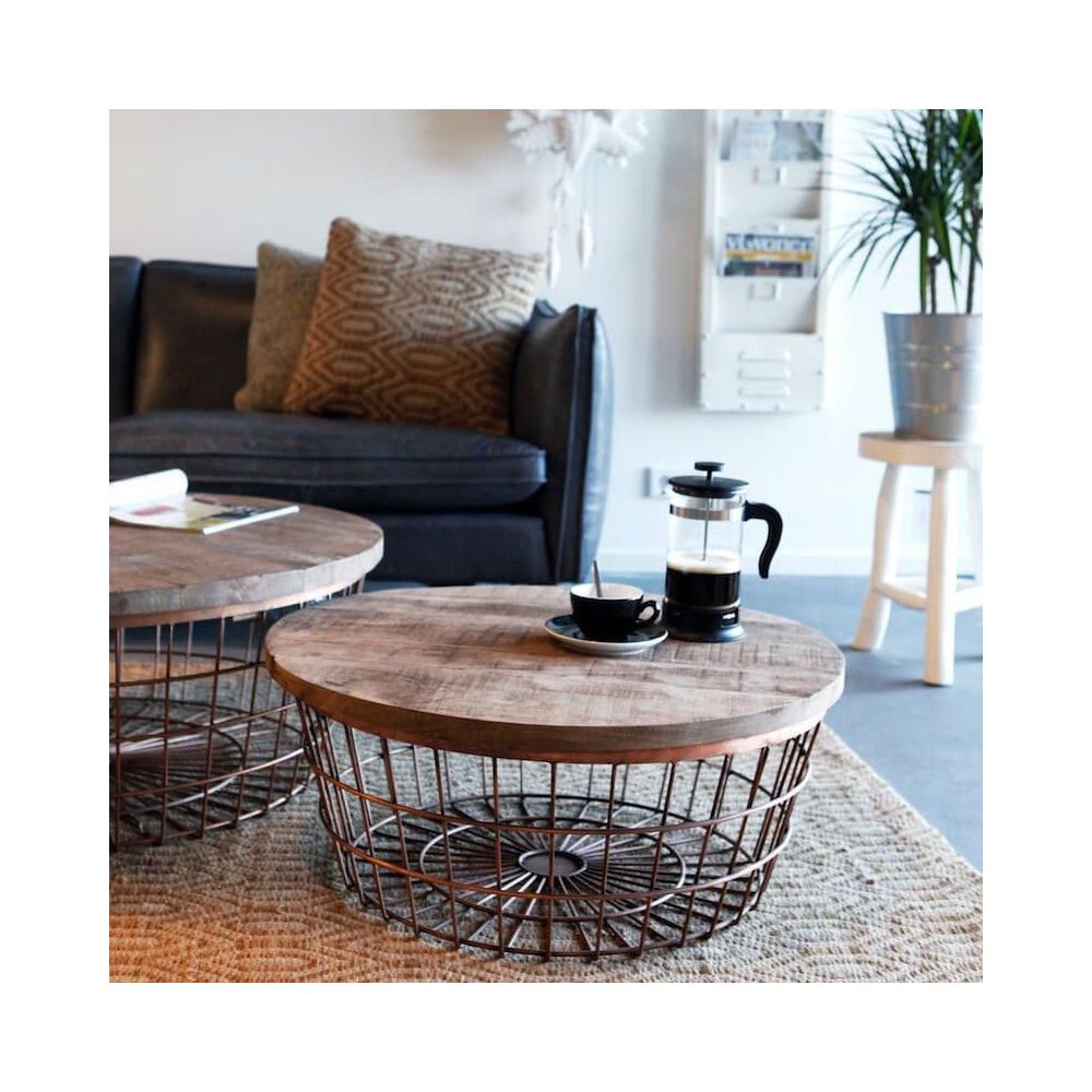 Copper Wire Coffee Table Metal With