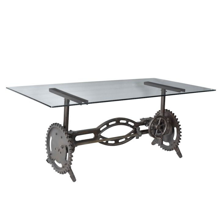 Industrial Crank Dining Table Dining Tables Smithers of Stamford 1,725.00 Store UK, US, EU, AE,BE,CA,DK,FR,DE,IE,IT,MT,NL,NO,...