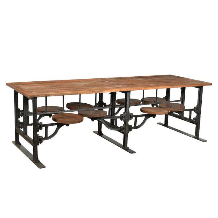 large industrial dining table