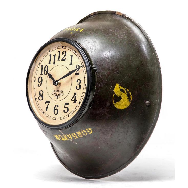 Soldier Helmet Clock Vintage Clocks £ 55.00 Store UK, US, EU, AE,BE,CA,DK,FR,DE,IE,IT,MT,NL,NO,ES,SE