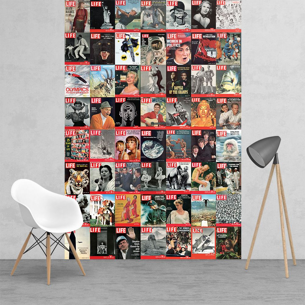 Vintage Wall Murals Life Magazine Covers