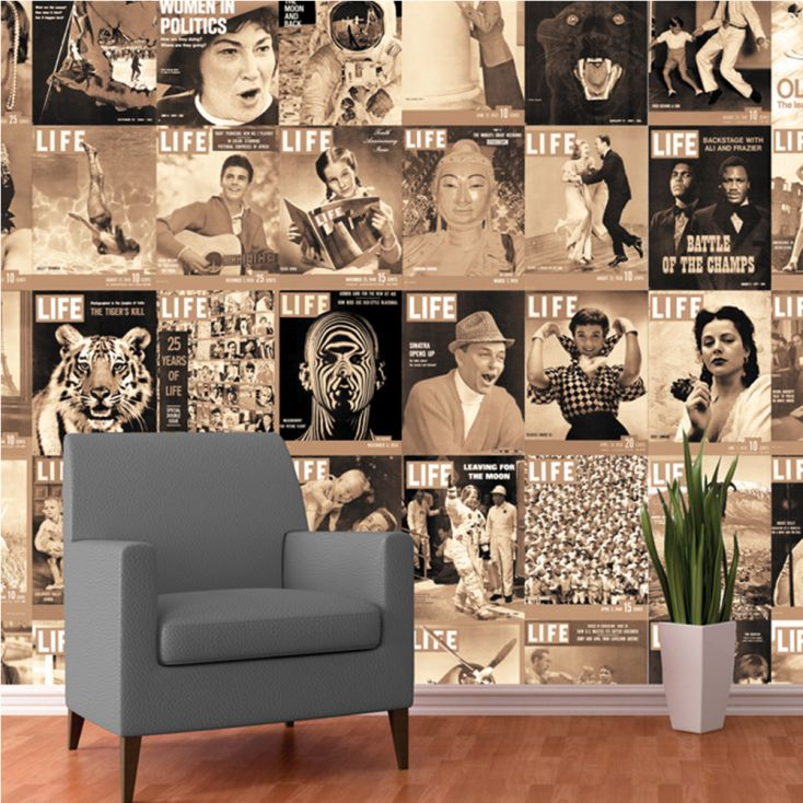 Life Magazine Collage Part 2 Wallpaper £ 55.00 Store UK, US, EU, AE,BE,CA,DK,FR,DE,IE,IT,MT,NL,NO,ES,SE