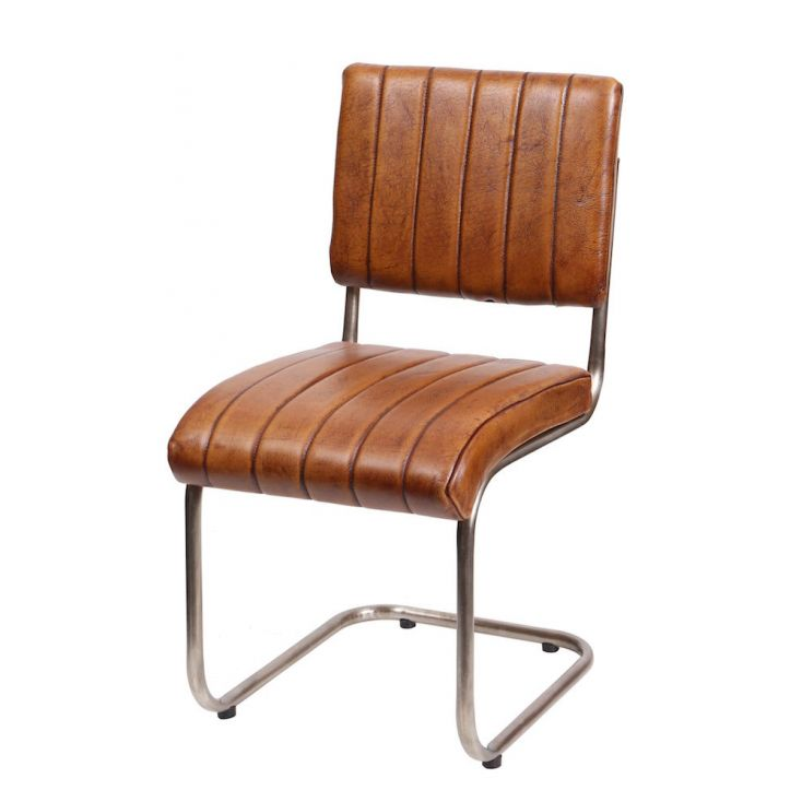 Aviator Ribbed Leather Chair Chairs Smithers of Stamford £ 275.00 Store UK, US, EU