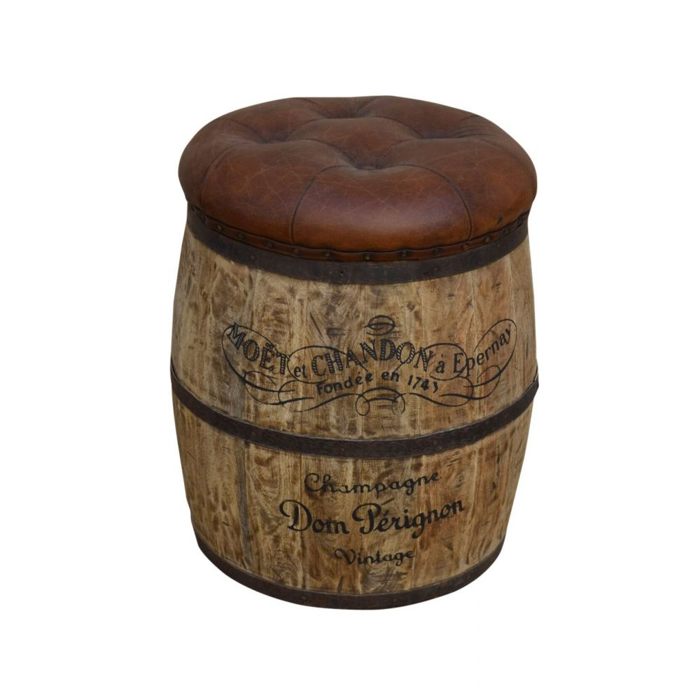 Wine Beer Key Barrel Seat Leather Stool Dom P 233 Rignon