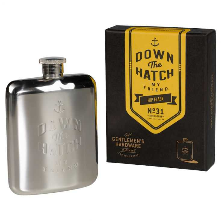 Down The Hatch Hip Flask Retro Gifts  £ 33.00 Store UK, US, EU, AE,BE,CA,DK,FR,DE,IE,IT,MT,NL,NO,ES,SE