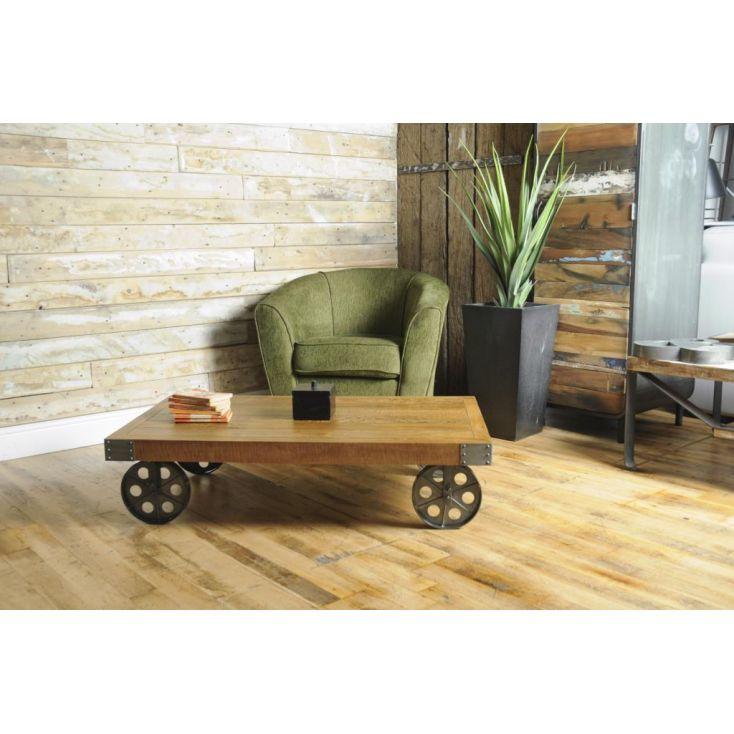 Trolley Coffee Table.Cart Coffee Table